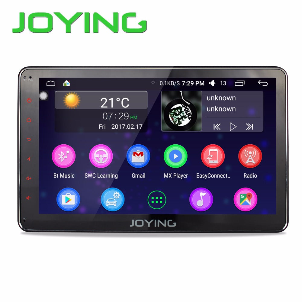 Joying 10.1. 2GB+32GB Car Stereo Autoradio GPS Navigation For Universal Single 1 Din Android 6.0 Quad Core 1024*600 Head Unit - Trivoshop