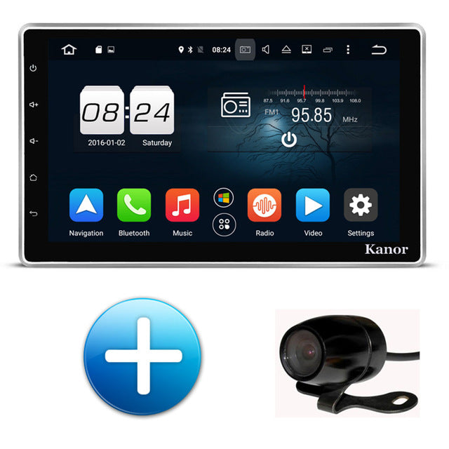 KANOR Android 6.0 1024*600 Octa Core 2G 10.1 inch Double 2 din Car GPS DVD Player Bluetooth Stereo Sat Nav RDS WIFI Multimedia - Trivoshop