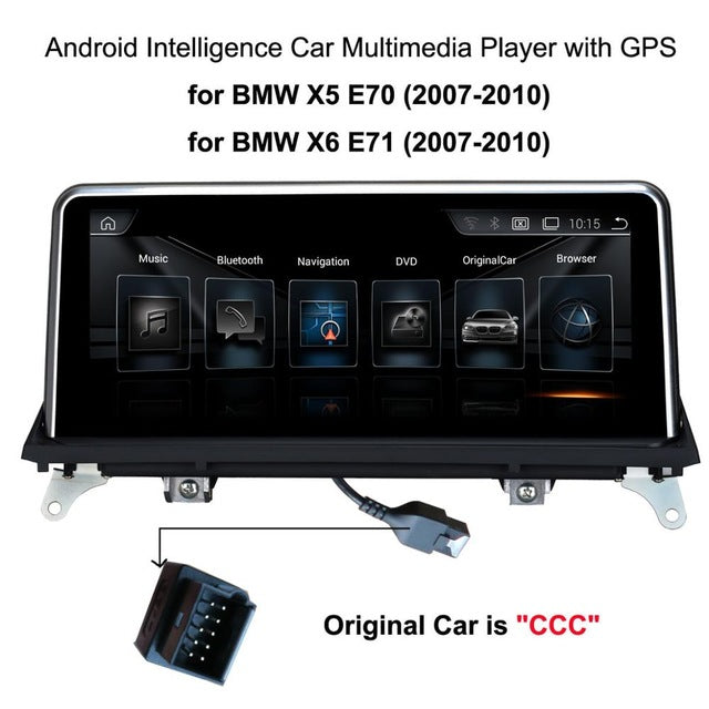 "10.25""Touch Android Car Raido GPS for BMW X5 E70(2007-2013)/BMW X5 E71(2007-2014) Intelligence Car Multimedia Player - Trivoshop.com"