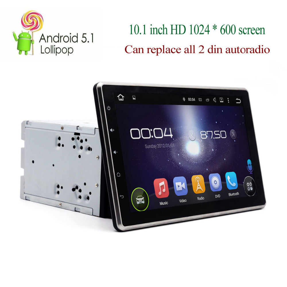 10.1 inch 2 din Quad core Android 5.1 Lollipop HD 1024 * 600 touch screen Car DVD Video Player headunit autoradio GPS navi - Trivoshop.com