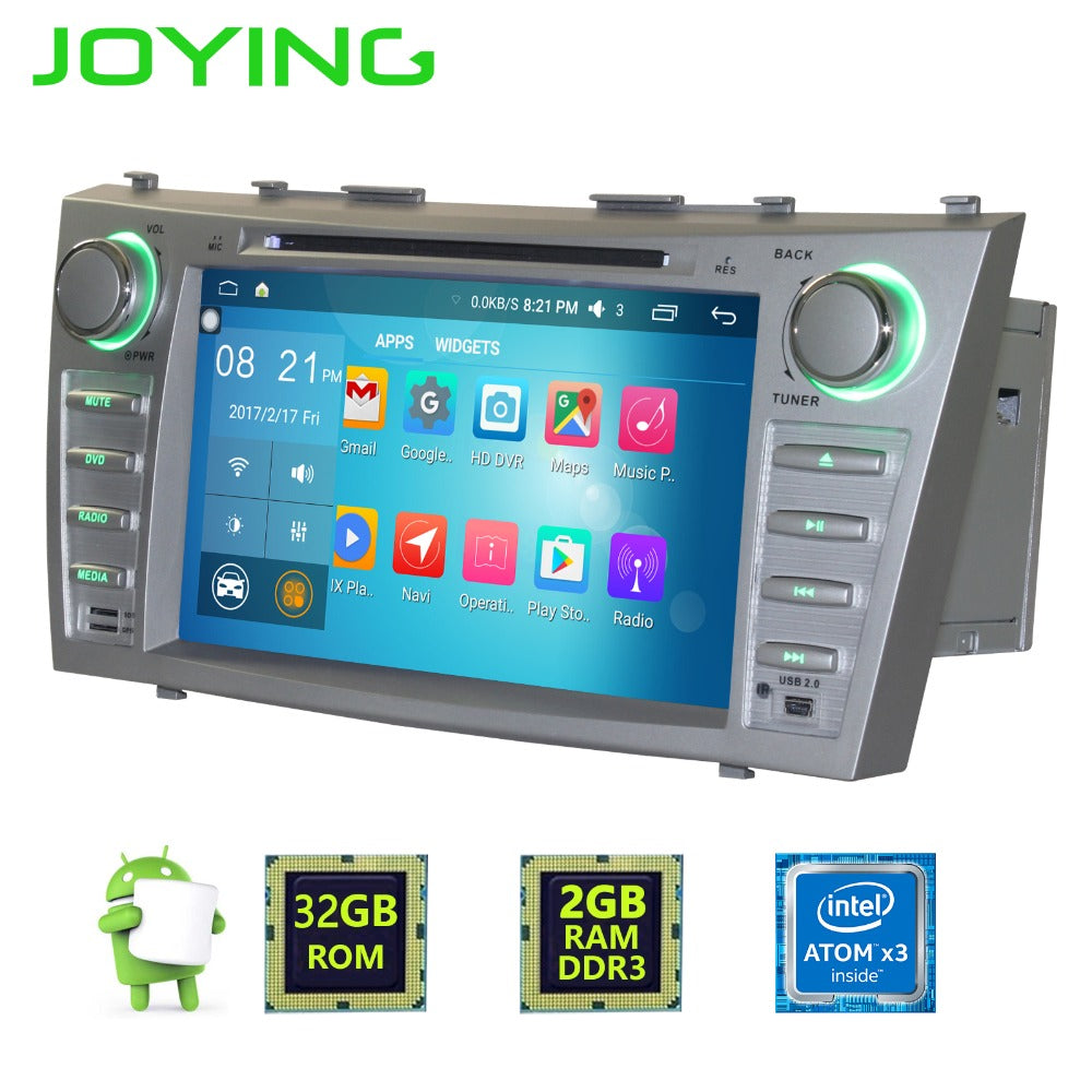 "Joying 8"" 1024*600 Double 2 Din Quad Core Android 6.0 Car Radio Stereo GPS Navigation For Toyota Camry Head Unit Multimedia"