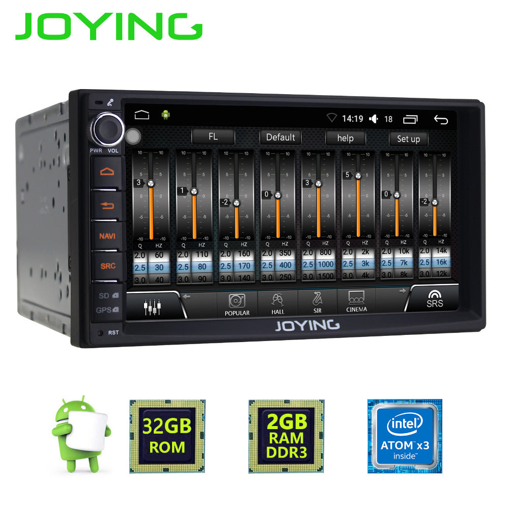 JOYING 7 inch touch screen 2din Android 6.0 car radio Head Unit multimedia player built in digital amplifier audio sound system