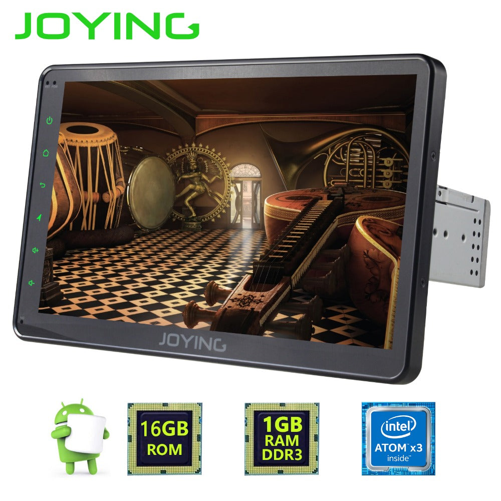 "Joying 10.1"" Single 1 Din Android 6.0 Car Radio Stereo Auto GPS Navigation For Universal Head Unit 1024*600 Multimedia Player"