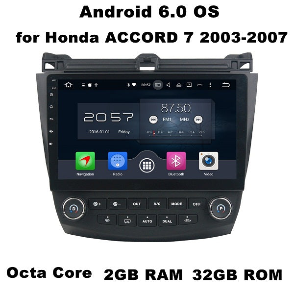 "10.1"" Android 6.0 Android 7.1 Car Radio GPS Multimedia Head Unit for Honda ACCORD 7 2003-2007 With 2GB RAM Bluetooth 3G 4G WIFI - Trivoshop.com"