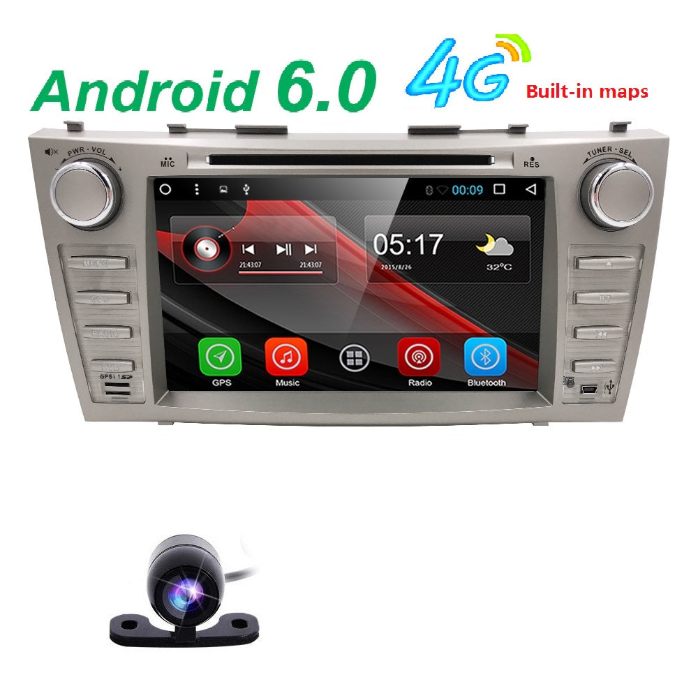 1024*600 android 6.0 car gps navigation car dvd for Toyota camry 2008 2009 2010 2011 with 4g WiFi radio bluetooth 2 din SWC DVR - Trivoshop.com