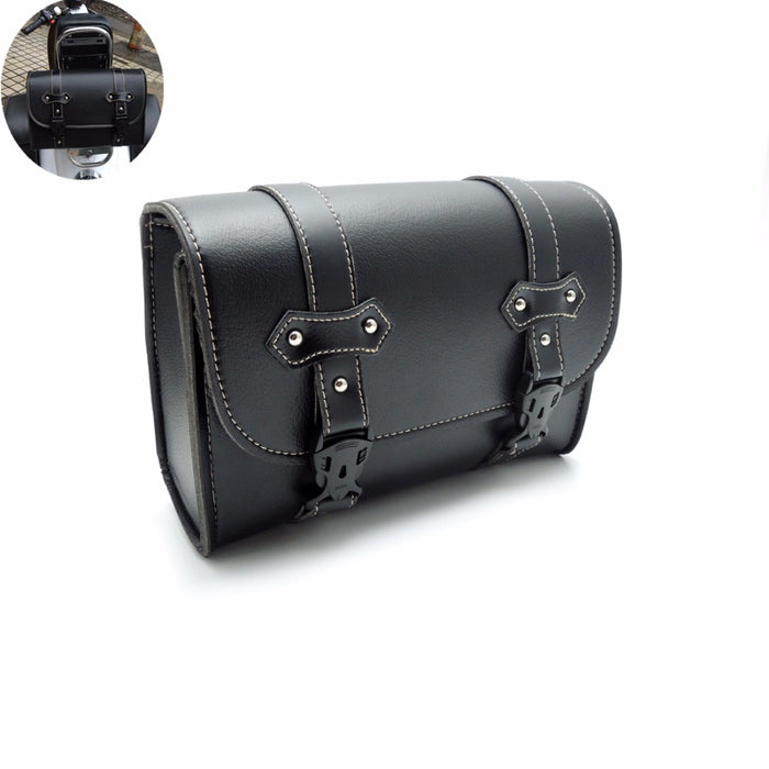 Motorcycle Saddlebag PU Leather Bag Sissy Bar Bags Storage Tool Pouch For Harley for Honda Shadow Motorcycle tool bags - Trivoshop
