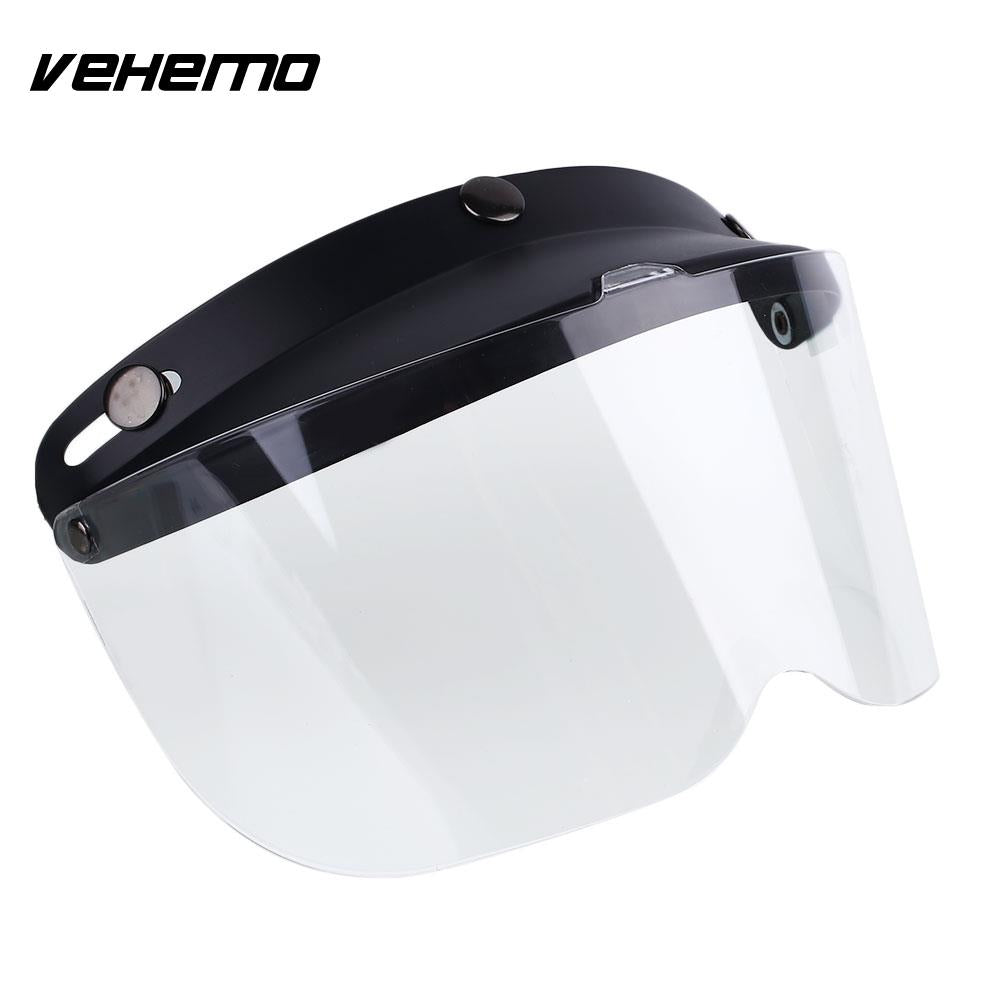 Universal Outdoor Flip Up Sun Visor Shields For Retro Motorcycle Helmet - Trivoshop