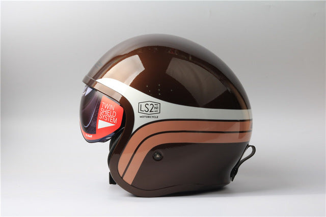 100% Original LS2 OF599 Vintage Motorcycle helmet Fashion men women design retro helmet LS2  capacete casque moto without pump - Trivoshop.com