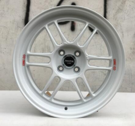 White and Gold Color Car Alloy Wheel Rims