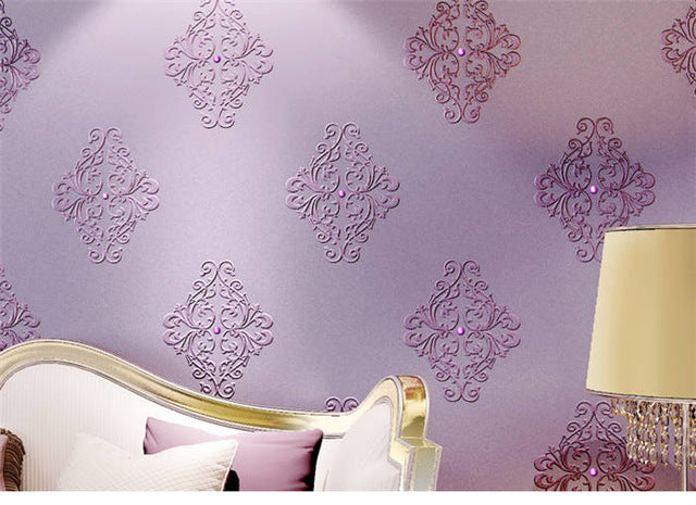 beibehang european embroidery diamond 3D Wallpaper