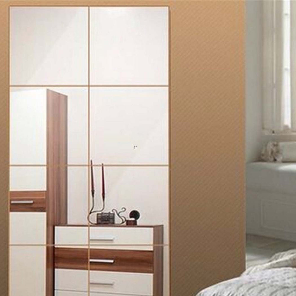 3D Square Mirror Tile Wall Stickers