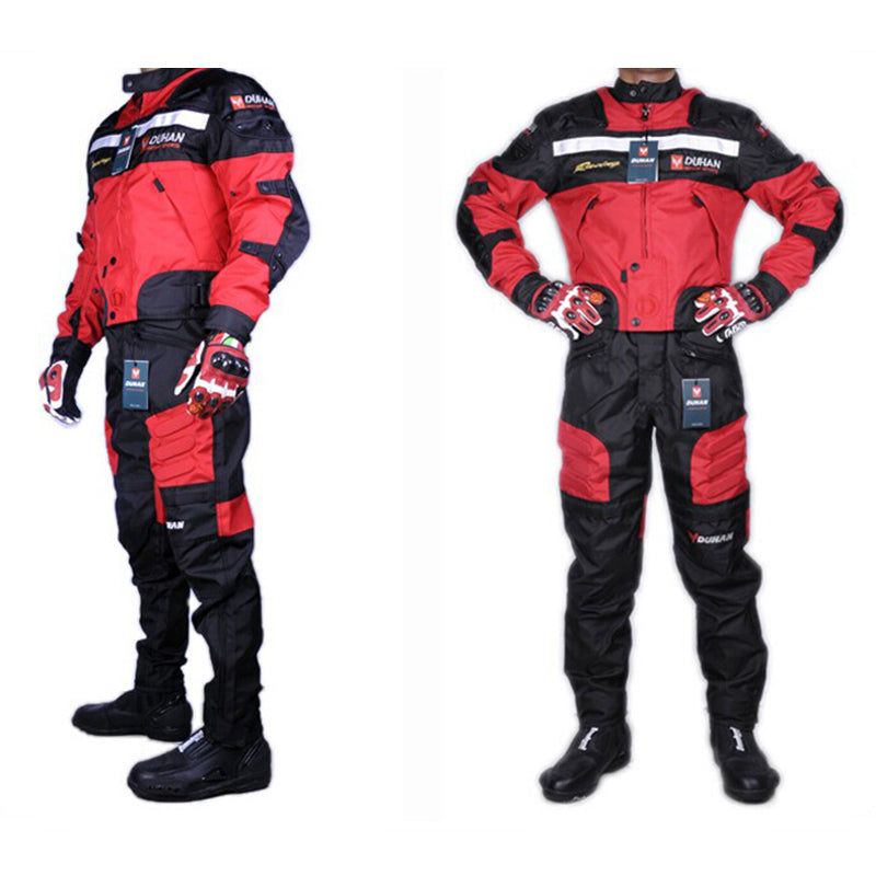 1 SET jackets&pants high quality DUHAN summer motorcycle jacket pants racing Oxford waterproof motocross suit motorbike jacket - Trivoshop.com