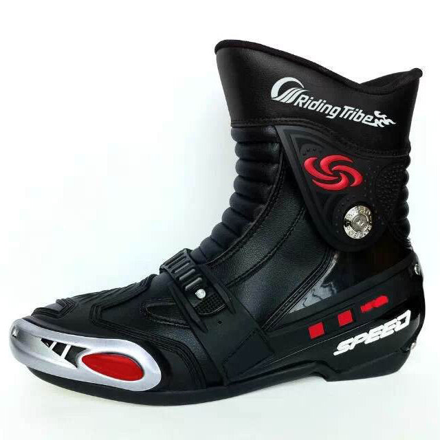 New style fashion Pro-biker A008 professional motorcycle boots motocross boots racing men boots anti-slip cycling shoes BPA08 - Trivoshop