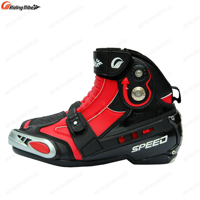 Riding Tribe SPEED Microfiber Leather Motorcycle Boots Moto Racing Motocross Motorbike Shoees Motorcycle Boots - Trivoshop
