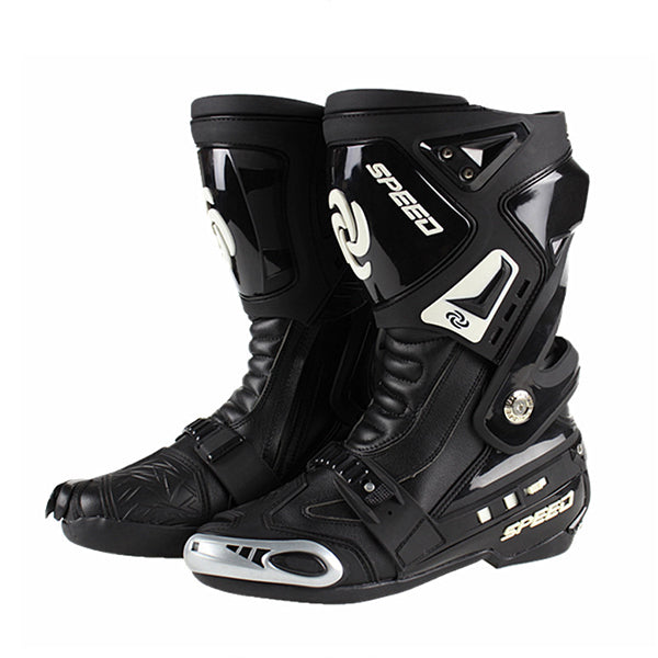New Motorcycle Boots Pro-biker SPEED road racing Bikers Leather cycling motocross Long knee-high Shoes  BPB05 - Trivoshop