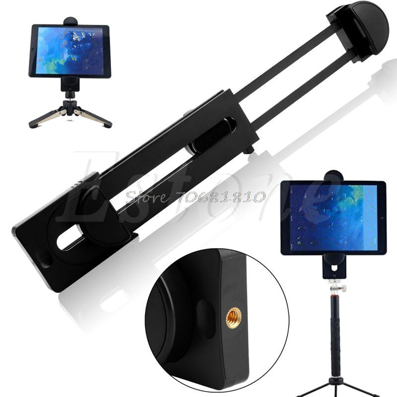 "1/4"" Thread Adapter Universal Tripod Mount Holder Bracket For 3~13"" Tablet For iPad #R179T#Drop Shipping - Trivoshop.com"