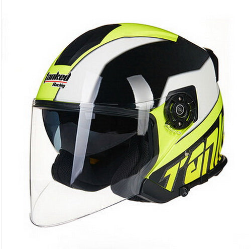 women Tanked Racing T597 dual visor electric motorcycle helmet, dirt scooter motorbike safety half face helmet size L XL XXL - Trivoshop