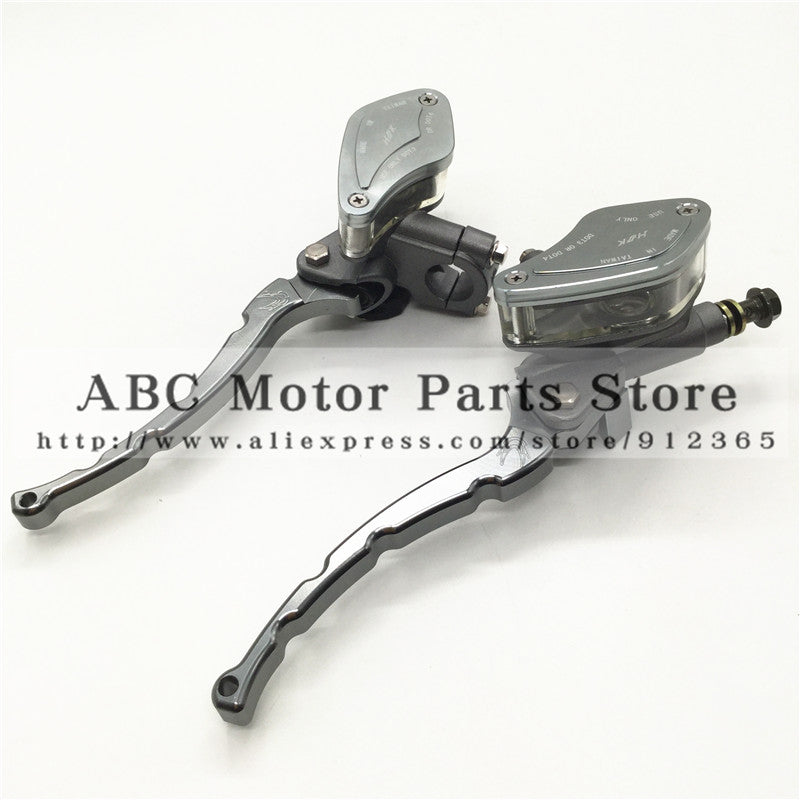 Hydraulic Brake Lever Left and Right for Electric motorcycle scooter  CNC aluminum lever M10 oil hose Titanium gray colour - Trivoshop