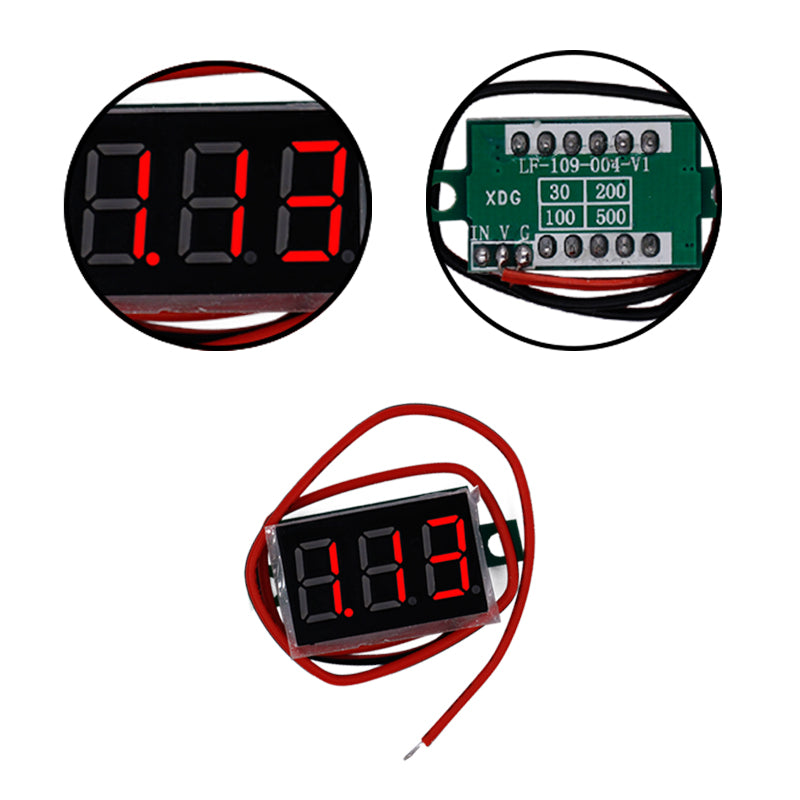 "10pcs/lot  High Quality 0.36"" DC4.5-30V Red LCD 3-Digital Display Voltage meter tester Panel Motorcycle voltmeter - Trivoshop.com"