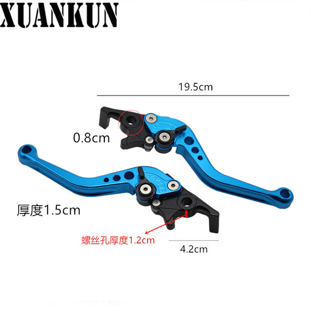 XUANKUN Electric Motorcycle Handlebar Modified Brake Horn Adjustable Hand Rod Double Disc - Trivoshop