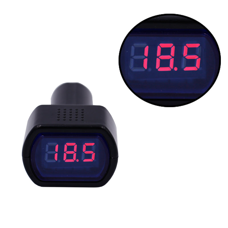 10pcs/lot Hot! DC 12V 24V LED display Car Voltmeter digital Voltage Panel Meter volt Tester Monitor for Motorcycle Truck XJ - Trivoshop.com