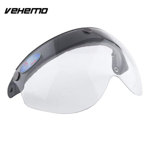 Vehemo Clear Pilot-Style Motorcycle Helmet 3-Snap Face Visor lens Shield Sunshade Protective Gears