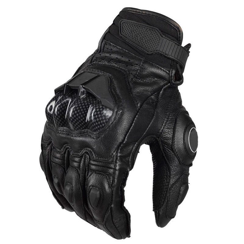 Carbon Leather full finger gloves