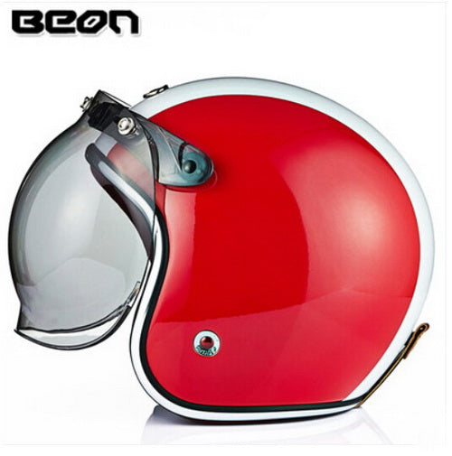 Netherlands BEON Retro Prince Harley style motorcycle helmet electric bicycle helmets made of fiberglass Four Seasons safety hat - Trivoshop