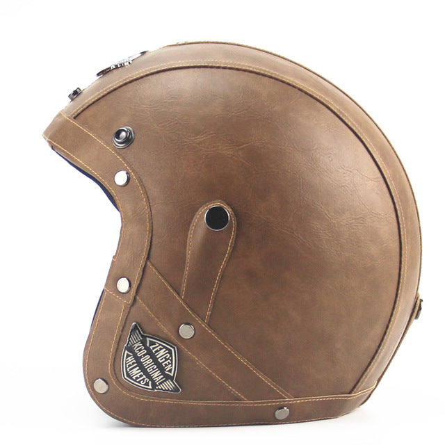 Leather Harley Helmets