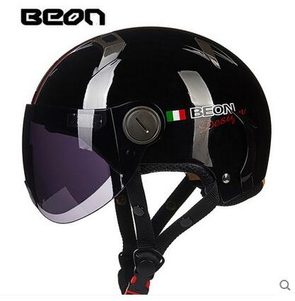 Retro electric motorcycle / motorbike half helme for women and men,BEON B102 vintage Kick scooter motorcyclist dirt bike HELMET - Trivoshop
