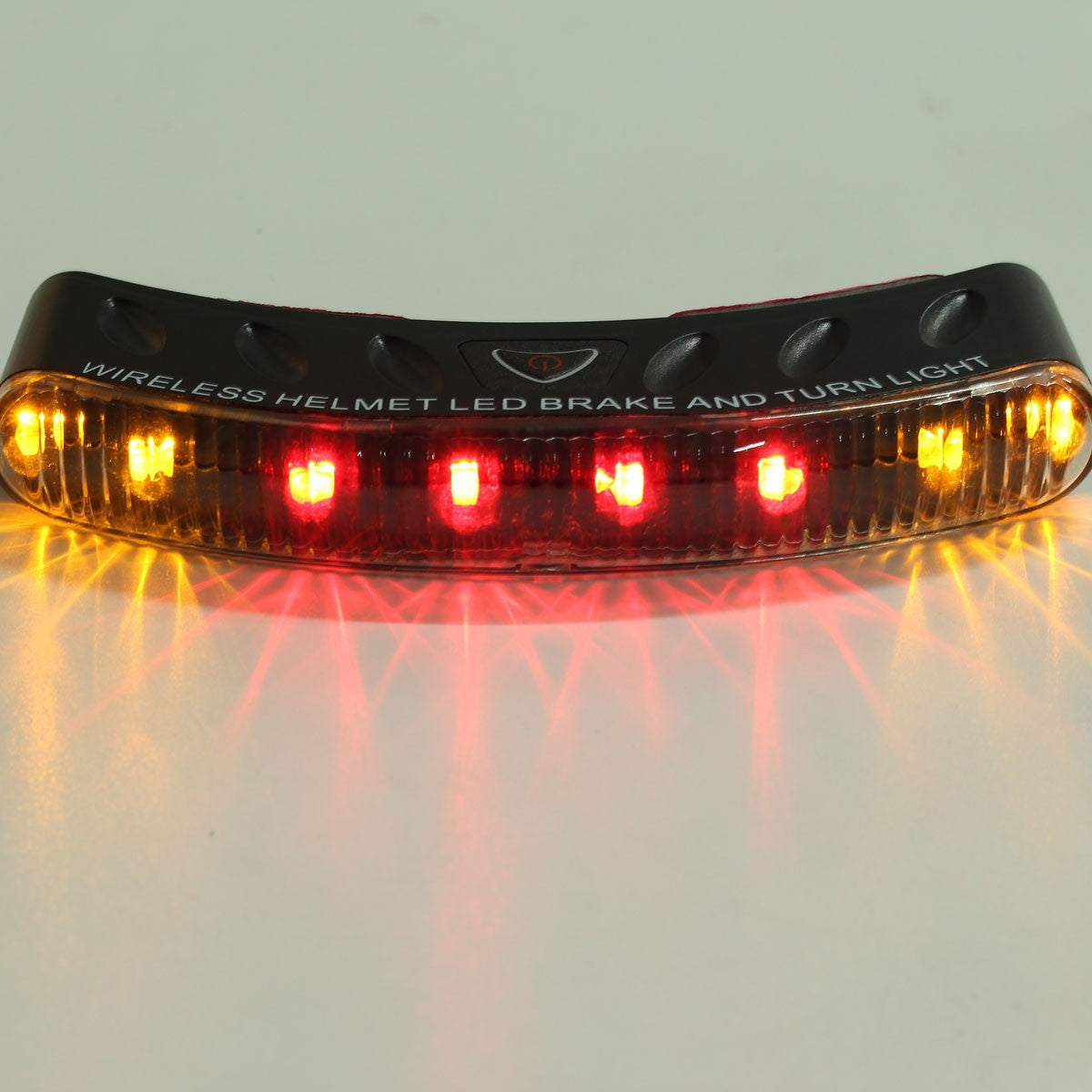 12V 8 LEDs Wireless Motorcycle Helmet Brake Turn Signal Light Motorbike Multi-Color Warning Flasher Lamp - Trivoshop.com