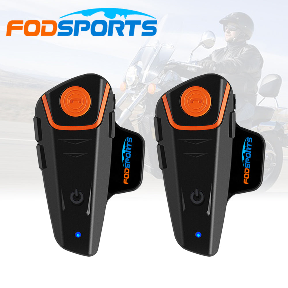 Fodsports 2 pcs BT-S2 motorcycle helmet intercom