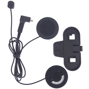 Intercom Accessories (Soft earphone & Clip) Suit for tcomsc tcomvb Motorcycle Helmet Bluetooth BT Interphone