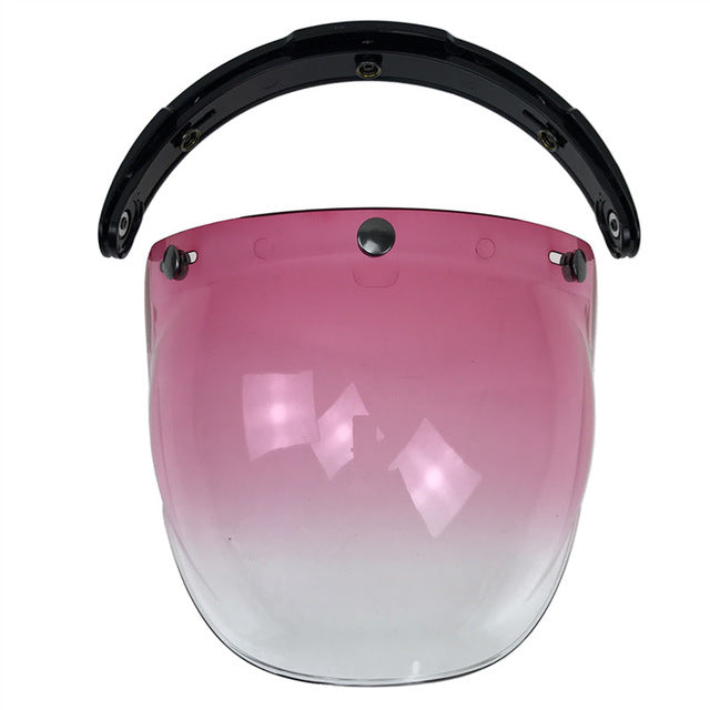 motorcycle helmet glass Flip Up base helmet bubble shield/windshield 3pin connection windproof glass uni-sex multi color - Trivoshop