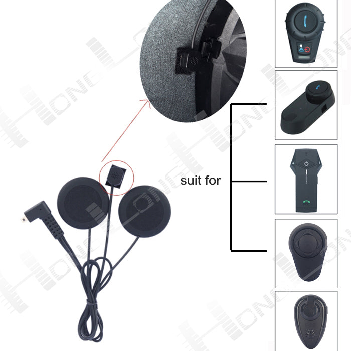 1 PC BT Intercom Accessory(Soft Earphone) for F-series(FDCVB, T-COM,COLO, O-COM and KIE) Motorcycle Bluetooth Helmet Intercom - Trivoshop.com