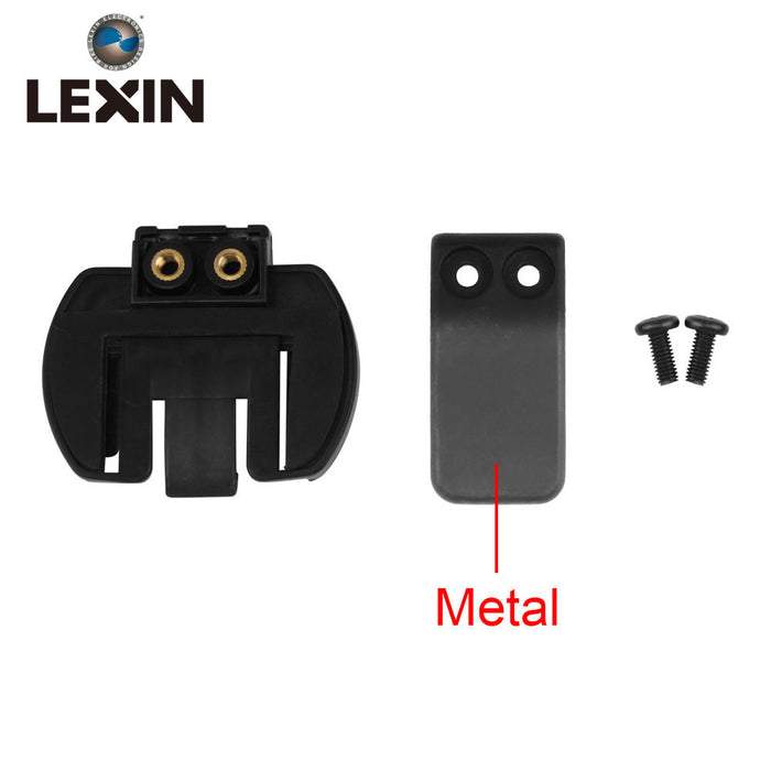 Free shipping 1PC Metal Clip Clamp Set Accessories for Clamp LX-R6/R4/R3 1200M Motorcycle Bluetooth Helmet Interphone Intercom - Trivoshop