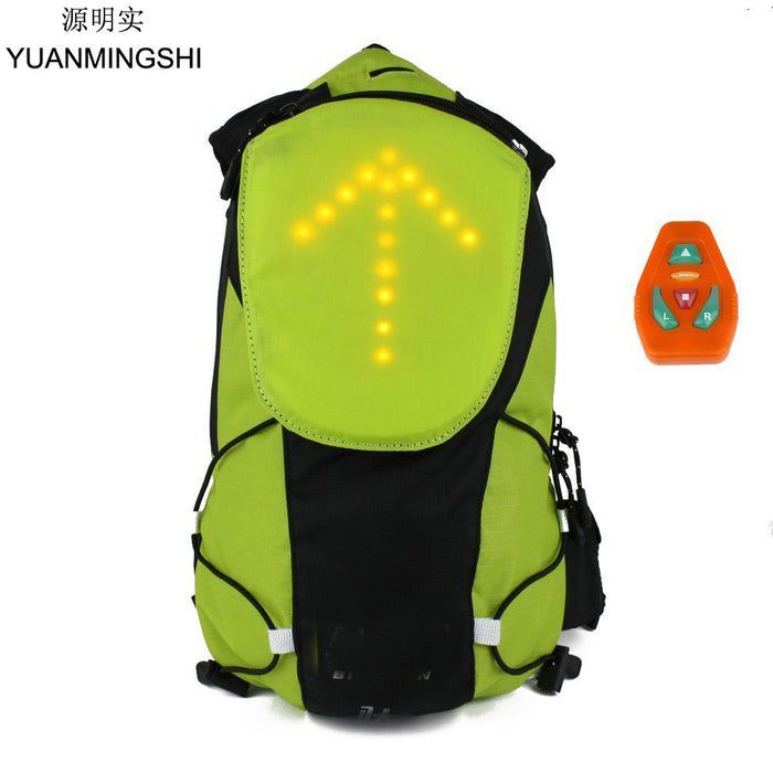 YUANMINGSHI Cycling Motorcycle Reflective Safety LED Backpack Bag with Wireless Remote Control LED Pilot Safety Light - Trivoshop