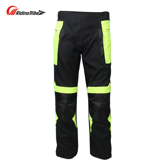 Motorcycle Pants Men's Gear Summer Breathable Mesh Protective Knee pads Reflective Racing trousers - Trivoshop