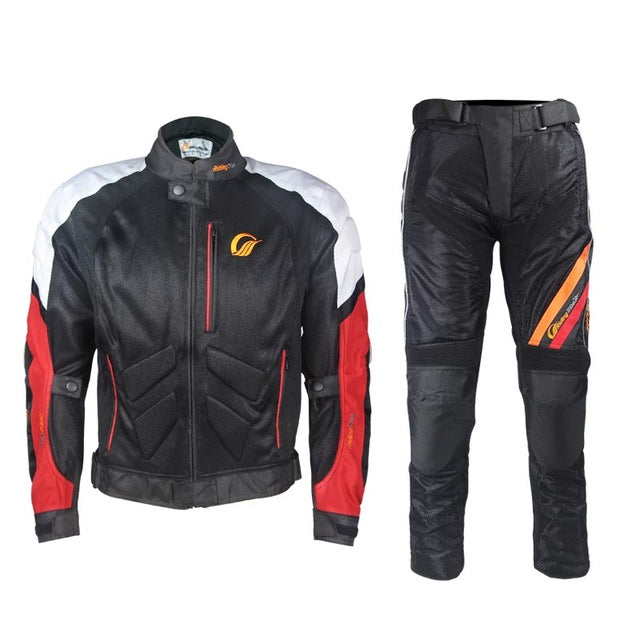 Riding Tribe Men Breathable Motorcycle Racing Jackets Pants Clothing Suits Summer Motocross Jacket Motorbike Trousers - Trivoshop