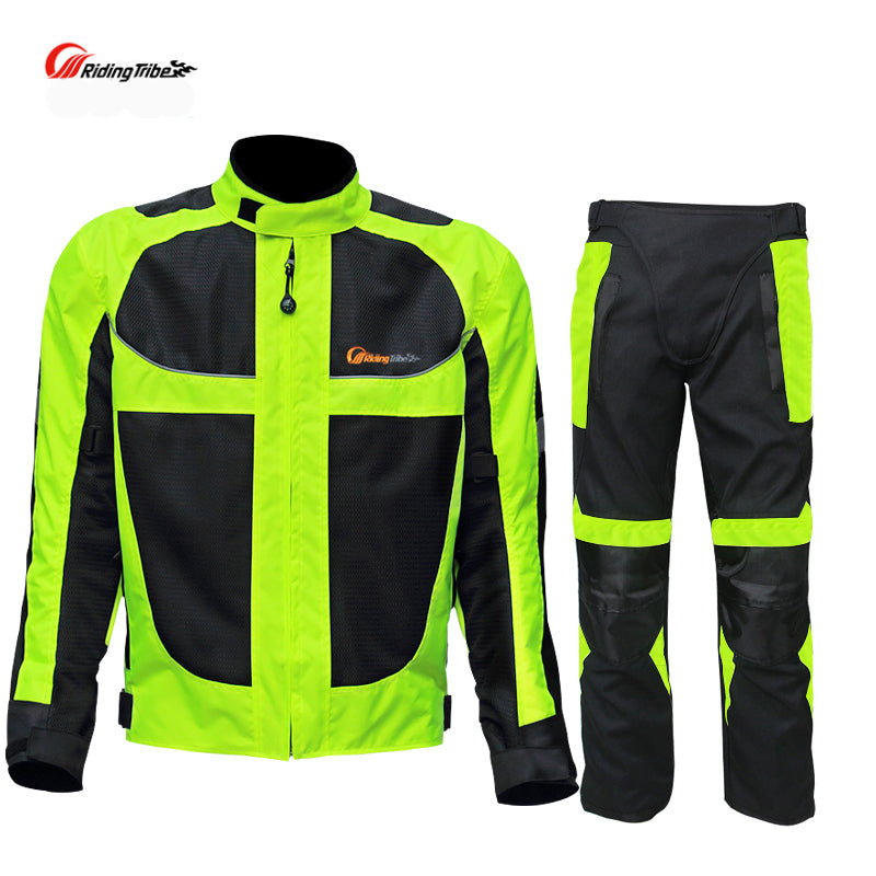 Motorcycle Reflective Racing Jacket With Pants - Trivoshop