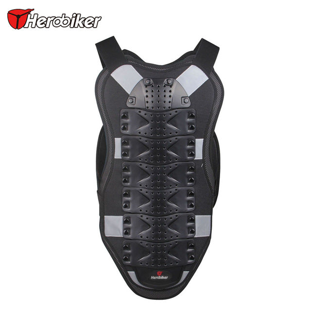 HEROBIKER Motorcycle Armor Motorcross Racing Armor Black Motorcycle Riding Body Protection Jacket With A Reflecting Strip MC102B - Trivoshop