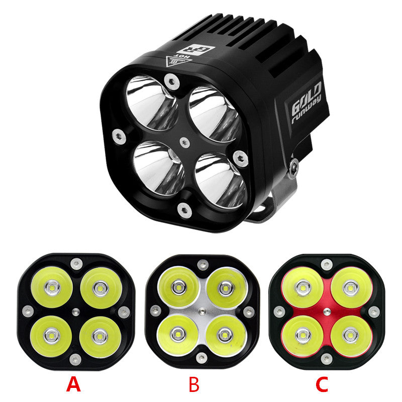 Motorcycle LED Waterproof IP68 Driving Headlight Fog Light Black