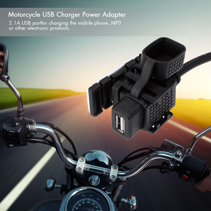 Waterproof 2.1A 5V Motorcycle USB Charger Power Adapters for Motorcycles - Trivoshop