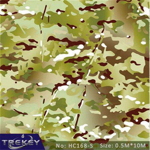 0.5M*10M Camouflage Military Hydrographics Water Tranfer Printing Film HC168-S,Pva Water Soluble Film, Hydro Dipping Camo - Trivoshop.com