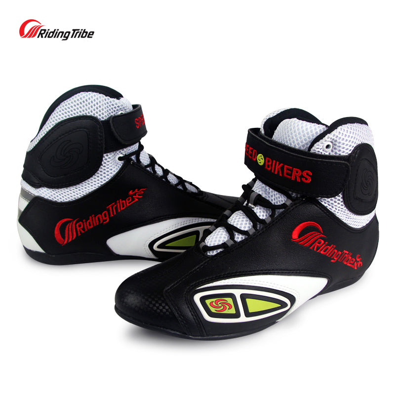 Motorcycle Racing boots Riding Tribe Microfiber Leather Breathable Locomotive shoes Street Moto Motorbike Summer Boots - Trivoshop