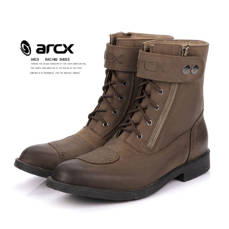New Arrival Fashion ARCX Leisure Motorcycle Boots Leather Shoes Men Road Cycling Bike Scooter Motorbike Boots Shoes - Trivoshop