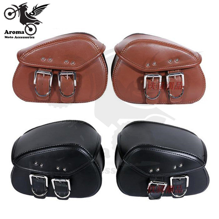 PU Leather motorbike side bags - Trivoshop