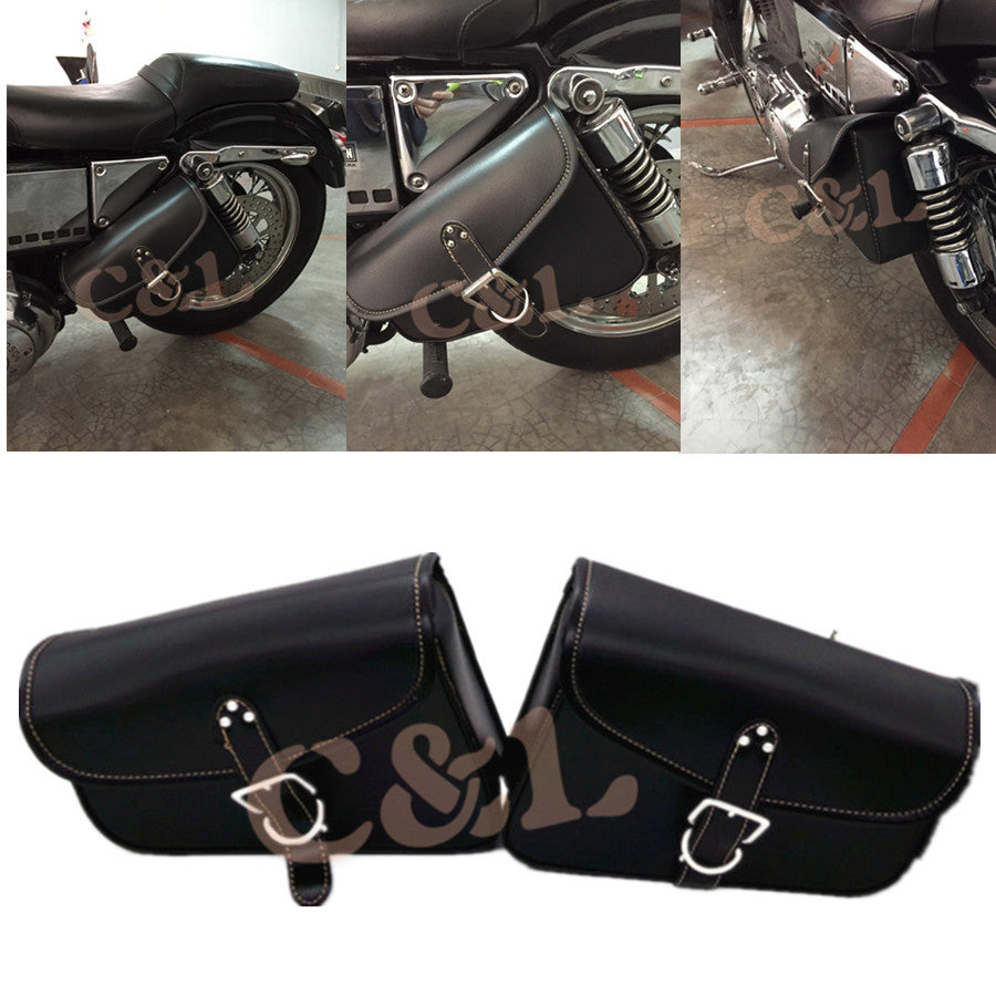 Motorcycle PU Leather Luggage Bag