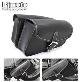 Motorcycle Bags SideBags Saddlebags PU Leather Tool Bag Storage For Harley Sportster 883 Cruiser Storage Pouch Bag Saddle Parts