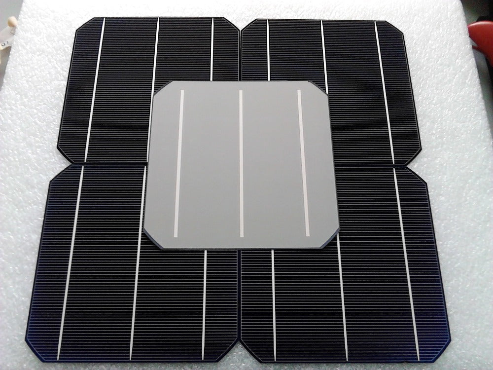 10 Pcs 4.8W 0.5V 20% Effciency Grade A 156 * 156MM Photovoltaic Mono Monocrystalline Silicon Solar Cell 6x6 For Solar Panel - Trivoshop.com